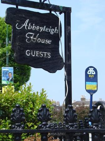 Abbeyleigh House: Bus Stop Beyond the Front Gate