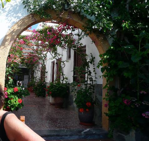 Skala, Griechenland: Hotel lobby all fresco