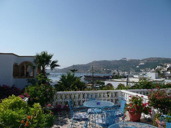 Skala, Hellas: Magic views to harbour and Hora
