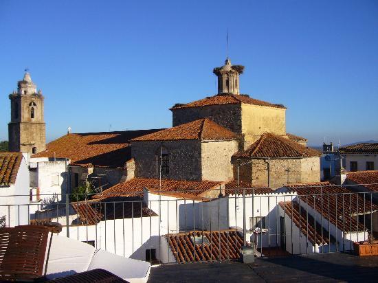 vue du solarium sur les toits de Valencia de Alcantara