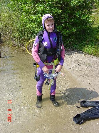 Center Parcs De Kempervennen: diving on the lake