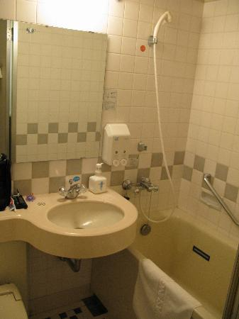 Chiba Washington Hotel: The tiny bathroom