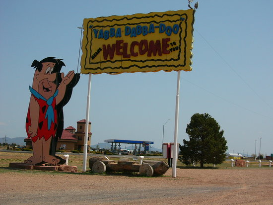 Williams, AZ: bedrock sign