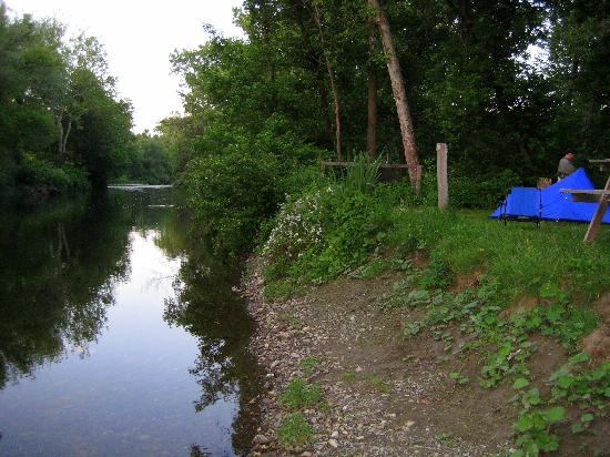 Battenkill River: Up river from our campsite.