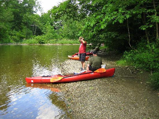 Battenkill River: Snack break.