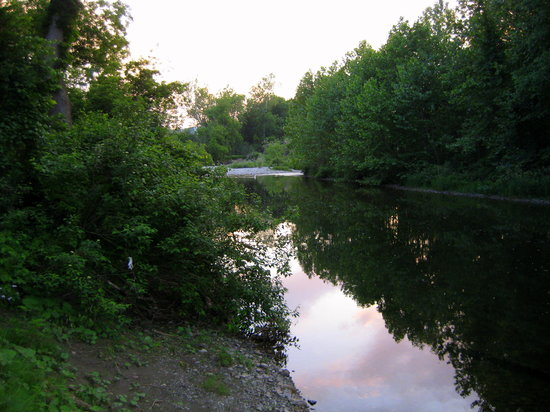 Battenkill River: Downriver from campsite.