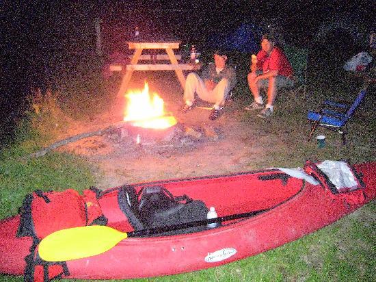 Battenkill River : After dinner relaxing.
