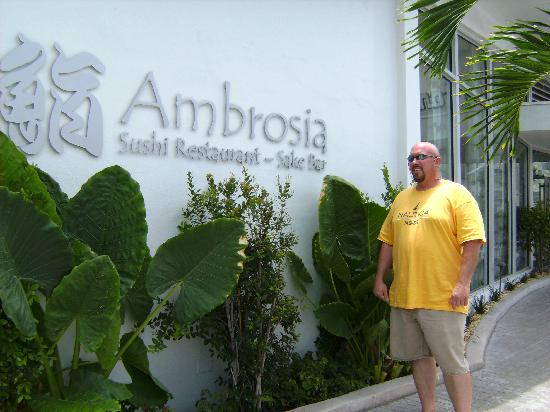 Ambrosia : the sign at hotel