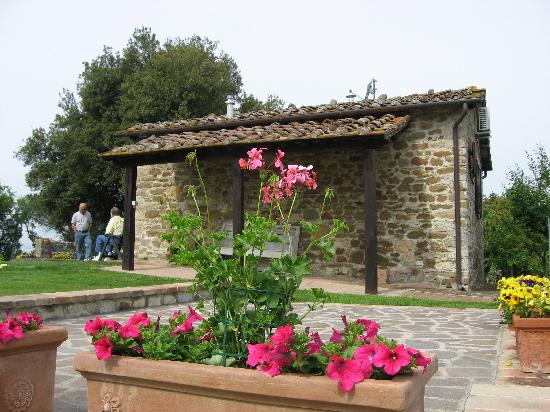 Casale San Lorenzo: flowers and cottage