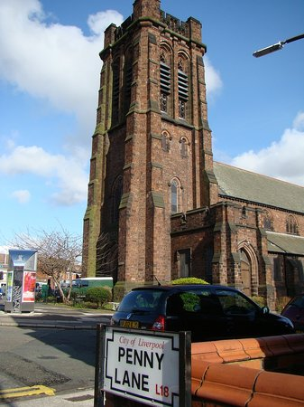 St Barnabas Church: St Barnabas viewed from Penny Lane