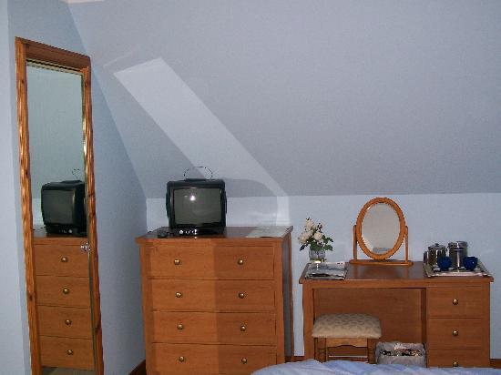 Burntree House Bed & Breakfast : Fernseher und Wandschrank (Hauptraum)