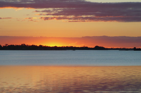 Mount Dora, Floryda: Last Rays of Sun on Lake Dora