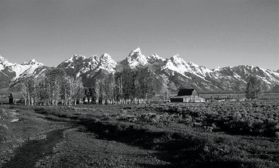Elk Country Inn: Old Buildings and Grand Teton