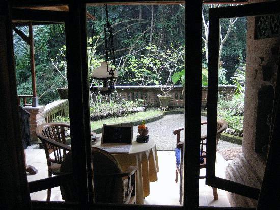 Ketut's Place: View from bathroom window