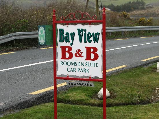 Bay View Bed and Breakfast: sign