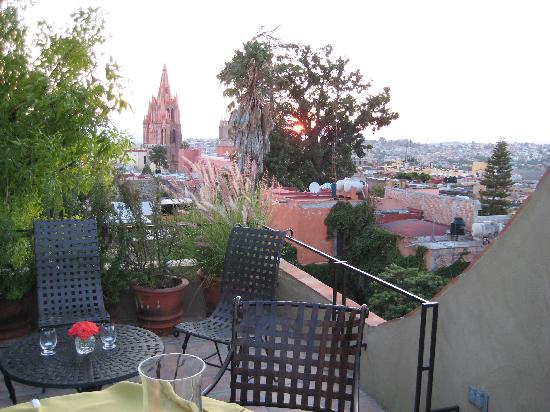 The view from the roof of Casa Misha