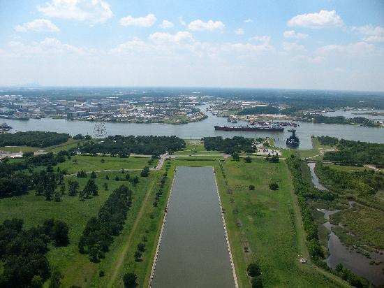 San Jacinto Battleground State Historic Site : Not-so-exciting view from the top.
