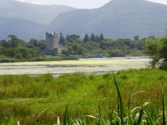 Ross Castle and Island with Torc Mountain behind