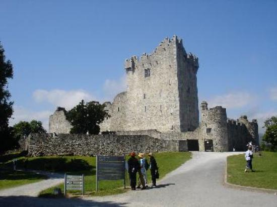 Ross Castle as apporached by Jaunting Car from Killarney National Park