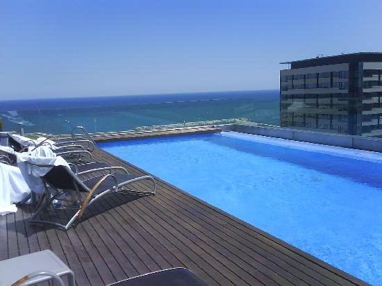Pool And Sea View Picture Of Ac Hotel Barcelona Forum By Marriott