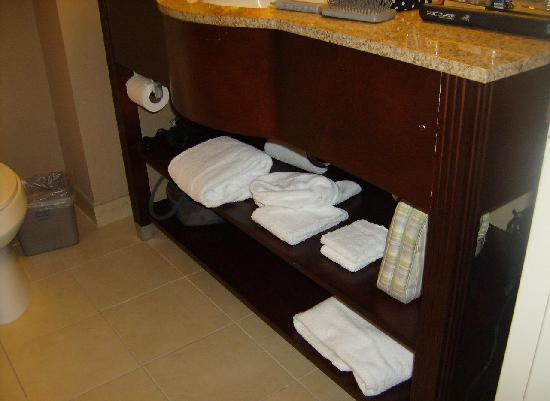 Hampton Inn & Suites Staten Island: Clean Large Bathrooms & rooms