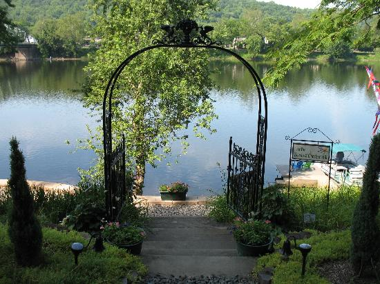 Chestnut Hill on the Delaware: View of the river from the front of the house