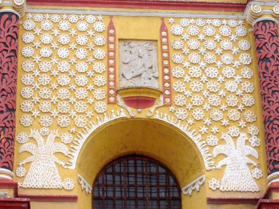 San Cristobal de las Casas, Mexico: Detalle de la Catedral de la Plaza Principal