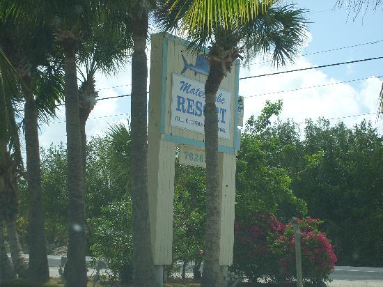 Matecumbe Resort Highway Sign
