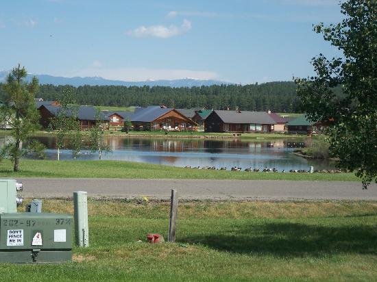 the view from our sidewalk picture of wyndham pagosa. Black Bedroom Furniture Sets. Home Design Ideas
