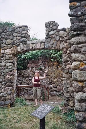 Bumpkin Island: Ruins of a farmhouse on Bumpkin