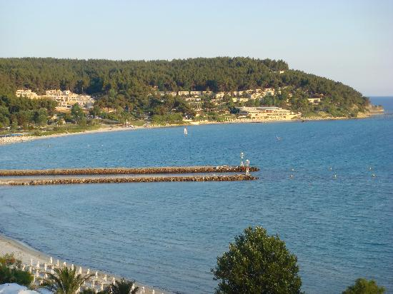 Sani Beach: View from A417