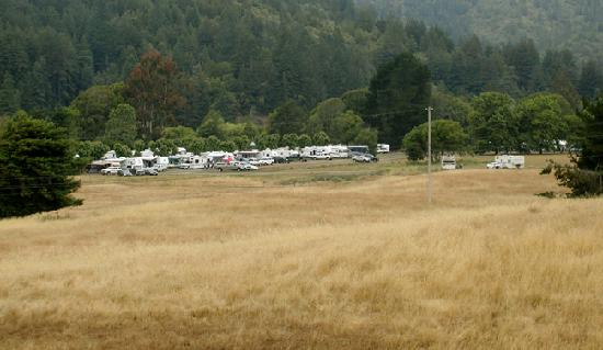 Casini Ranch Campground : Our camping area. We camped as a group.