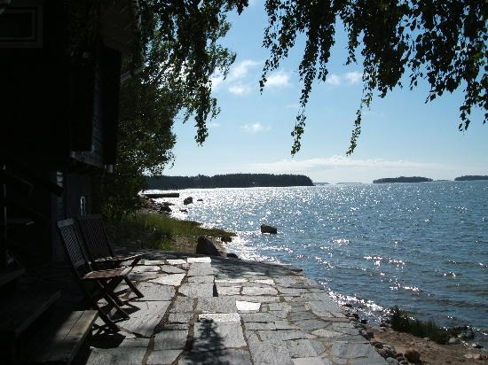 Hotel Rantapuisto: View from the sauna's patio