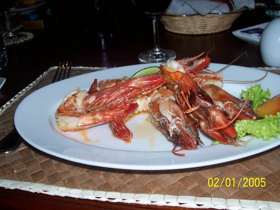 The Waterside Bentota: The very large prawns