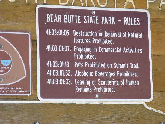 Bear Butte State Park: Bear Butte Sign at Entrance
