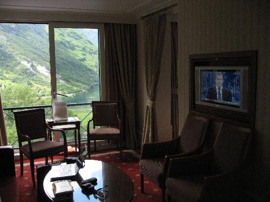 Hotel Union Geiranger: Sitzgruppe De Luxe Zimmer m. Fjordview