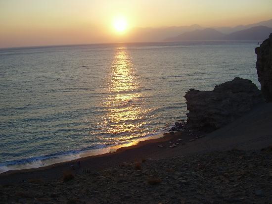 Agios Pavlos Hotel: La puesta de sol