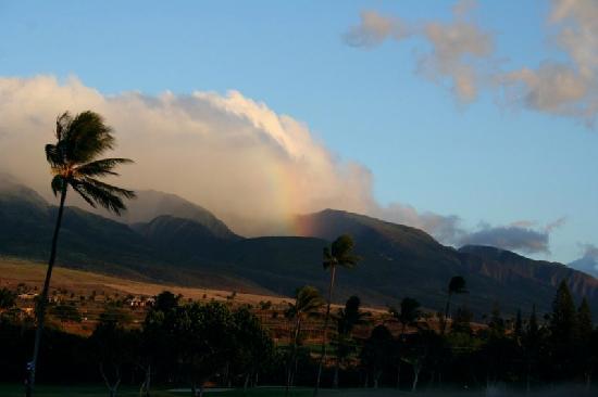 Morning rainbow - view from our condo at Ka'anapali Beach