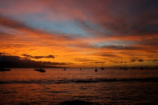Lahaina, Hawaï: gorgeous sunset - without me messing up the picture! :)