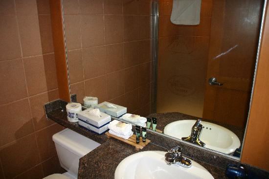 Hidden Ridge Resort: lower level bath