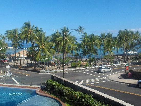 The Beach Villas at Kahalu'u: view from 2nd floor balcony