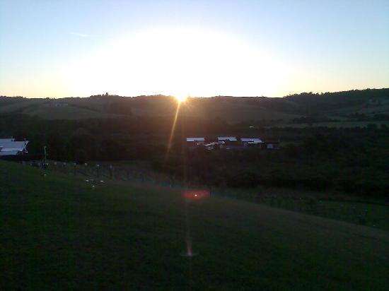 Riverside Matakana: The sunset was amazing
