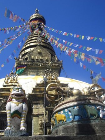 Katmandú, Nepal: Stupa of the Monkey
