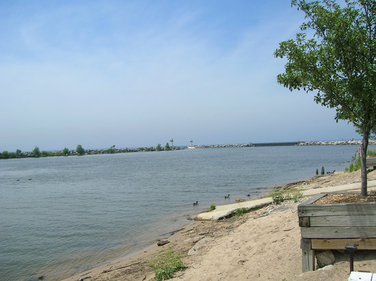 New Buffalo Public Beach: Marina Inlet
