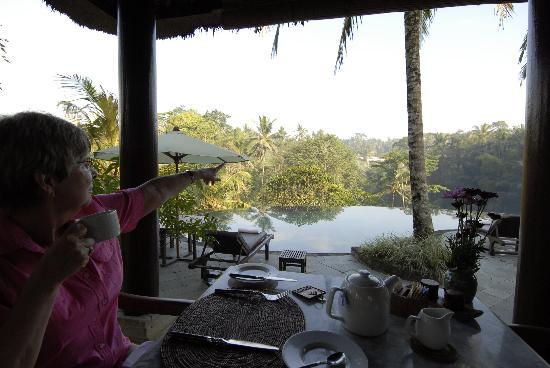 Villa Semana: The dining room facing the Ayung River