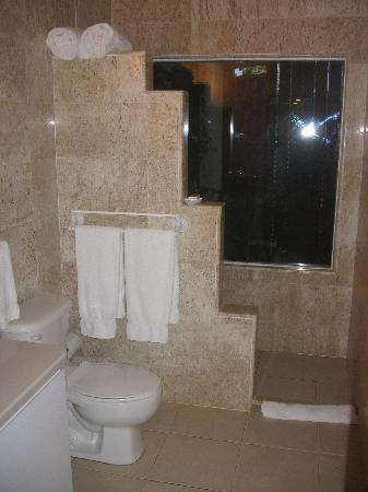 Serenity Cottage: The bathroom, marble, beautiful, clean