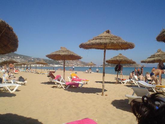 Hotel Dar Ismail: ombrelloni sulla spiaggia
