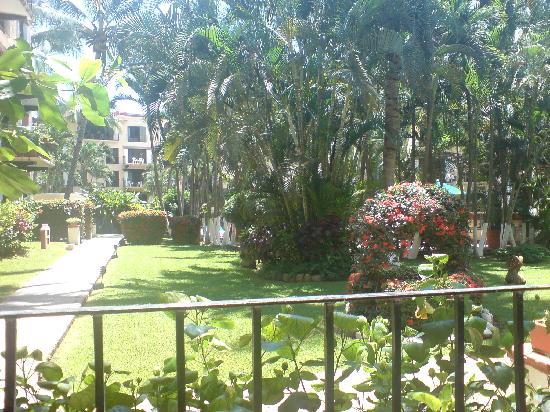 Puerto de Luna All Suites Hotel: bellos jardines al salir a la terraza