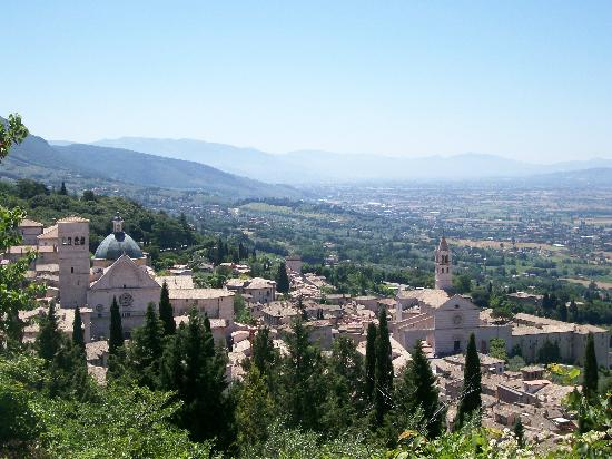 Palazzo Minciotti: View of Assisi from the Rocca