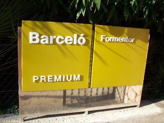 Barcelo Formentor: Hotel's entrance sign